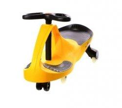 Crazycar Grawitacyjny Jeździk Skrętny Żółty Kauczuk Led #W1