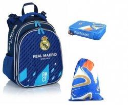 Zestaw Kasetonowy Tornister Worek Piórnik Real Madrid