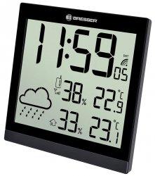 Stacja meteorologiczna Bresser TemeoTrend JC LCD RC (zegar ścienny), czarna