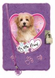 Pamiętnik włochacz  na Kłódkę My Little Friend Pies Piesek