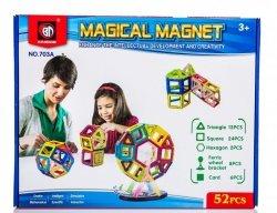 Kolorowe klocki magnetyczne MAGICAL MAGNET 52 SZT #E1