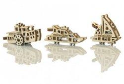 Drewniane puzzle mechaniczne 3D - Gadżety Statki #T1