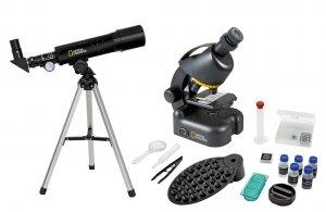 Zestaw Bresser National Geographic: teleskop 50/360 AZ i mikroskop 40x–640x