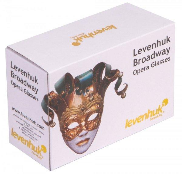Lornetka teatralna Levenhuk Broadway 325F (złota, z oświetleniem LED i łańcuszkiem)