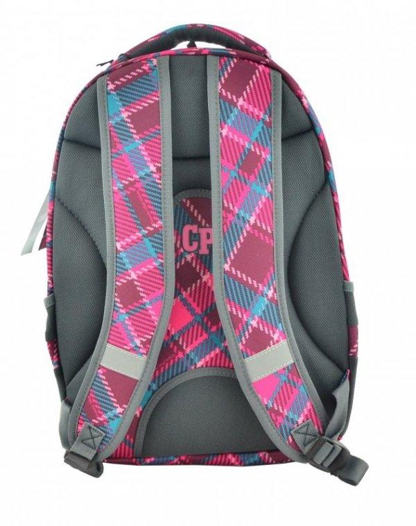 Coolpack Plecak Młodzieżowy 2w1 Combo Cranberry Check  2017