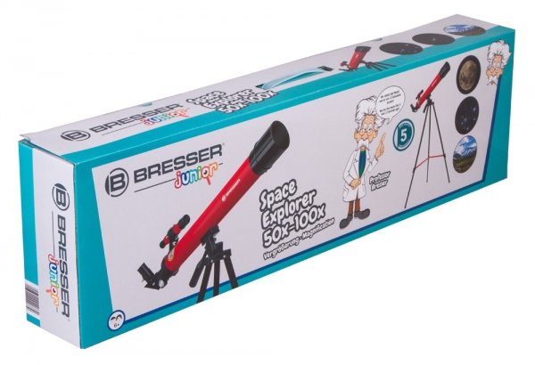 Teleskop Bresser Junior Space Explorer 45/600 AZ, różowy