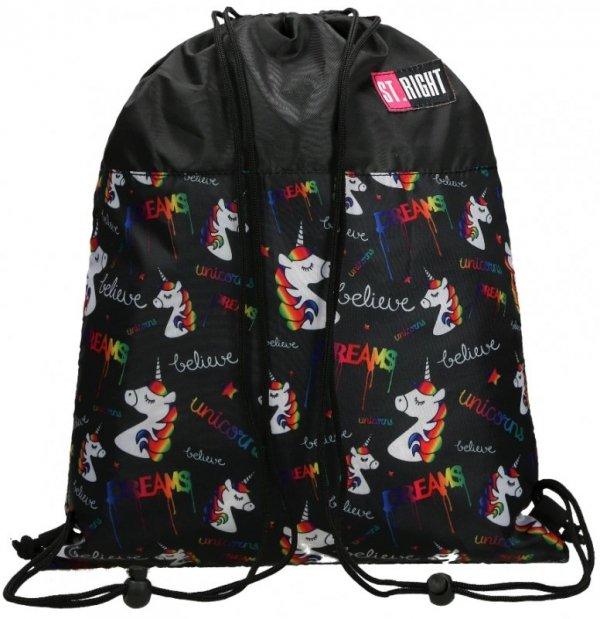 Worek szkolny Plecak St Right  Jednorożce So-01