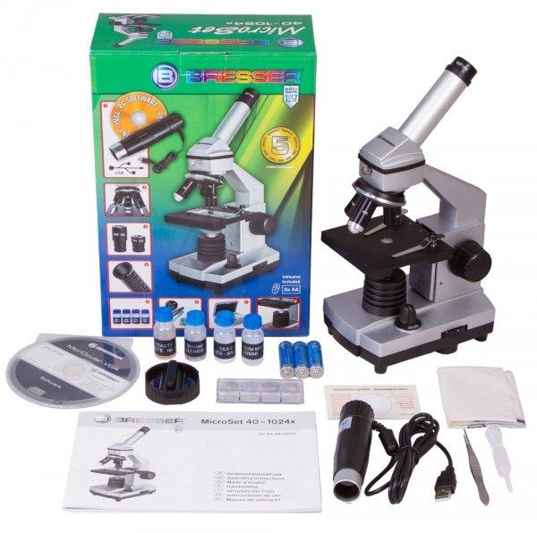 MikroskopBresser Junior 40x–1024x, bez futerału