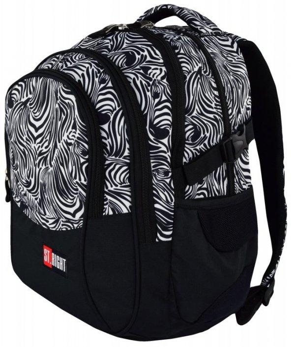 Plecak Młodzieżowy 2018 Zebra Bp-01 St.Right Gratis
