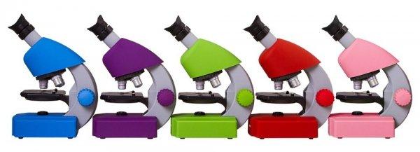 Mikroskop Bresser Junior 40x-640x, różowy