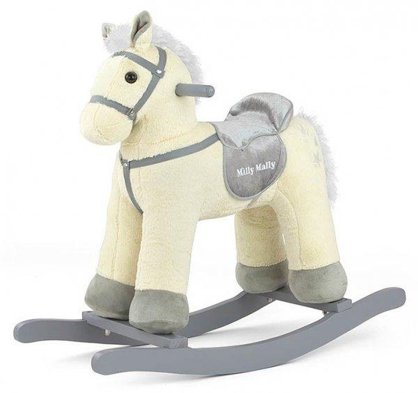 Konik Koń na biegunach Pepe Beige Beżowy Bujak #B1
