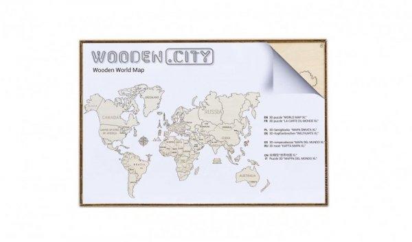 Drewniane puzzle 3D Wooden.City - Mapa Świata XL  #T1