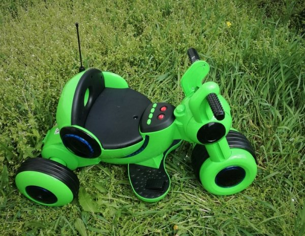 trójkołowy Pojazd Motor  na Akumulator  Dźwięk Światła