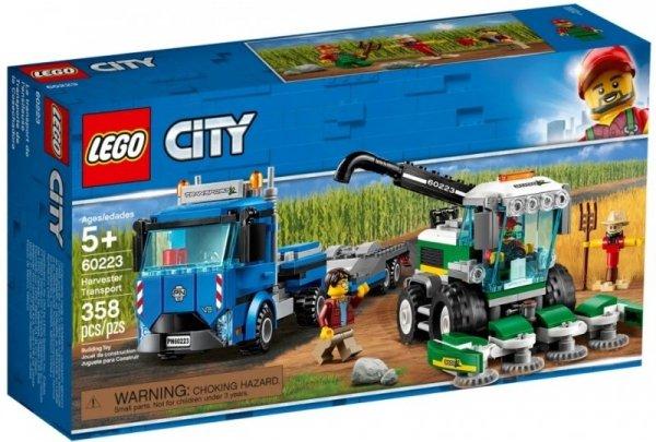 KLOCKI LEGO CITY 60223 KOMBAJN CIĄGNIK CIĘŻARÓWKA
