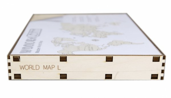 Drewniane puzzle 3D Wooden.City - Mapa Świata L  #T1