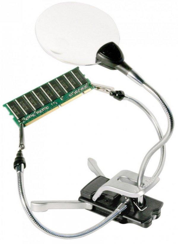 Lupa Bresser 2x/4x LED 88 mm, z uchwytami