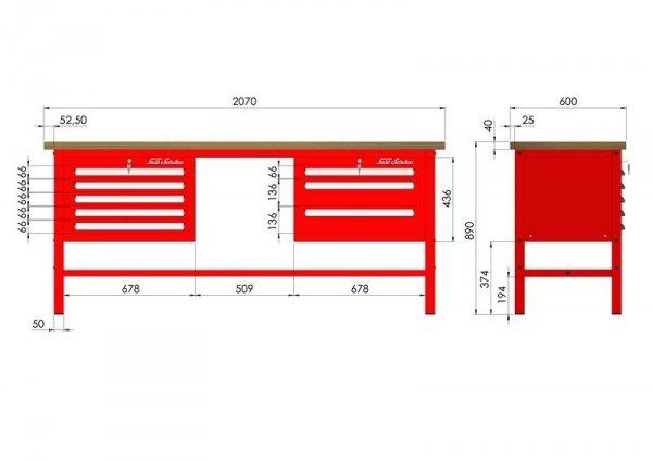 P-3-084-01 Stół warsztatowy