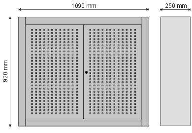 Gablota narzędziowa zamykana drzwiczkami z perforacją P-4-05-04