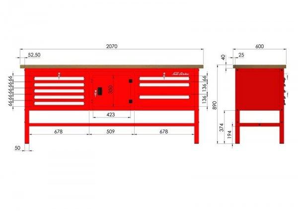 P-3-114-01 Stół warsztatowy