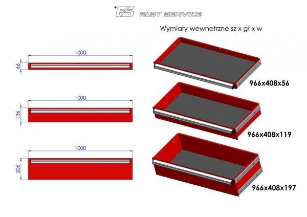 Wózek narzędziowy MEGA z 15 szufladami PM-210-15