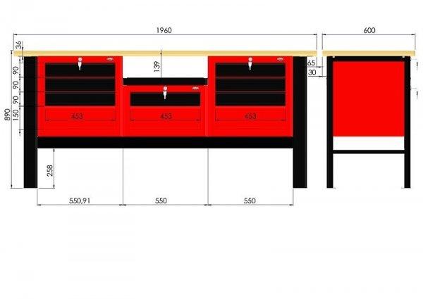 Stół warsztatowy N-3-20-01