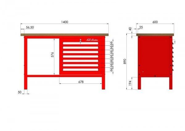 P-3-054-01 Stół warsztatowy