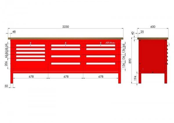 P-3-142-01 Stół warsztatowy