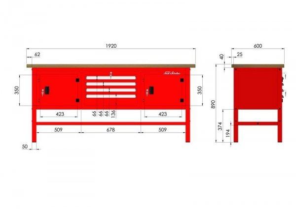 P-3-122-01 Stół warsztatowy