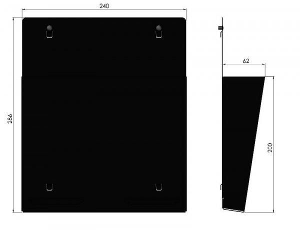 Zawieszka do przechowywania dokumentacji w formacie A4 ZWN-01