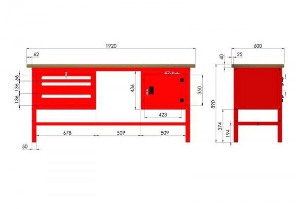 P-3-10-01 Stół warsztatowy