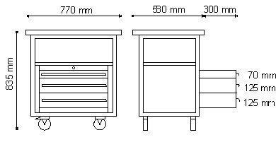 Wózek warsztatowy P-2-04-02