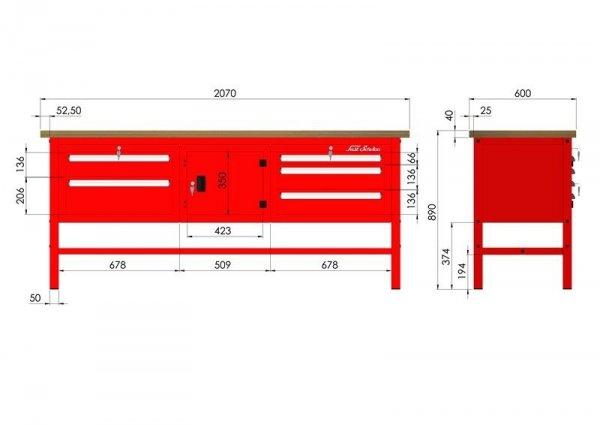 P-3-113-01 Stół warsztatowy