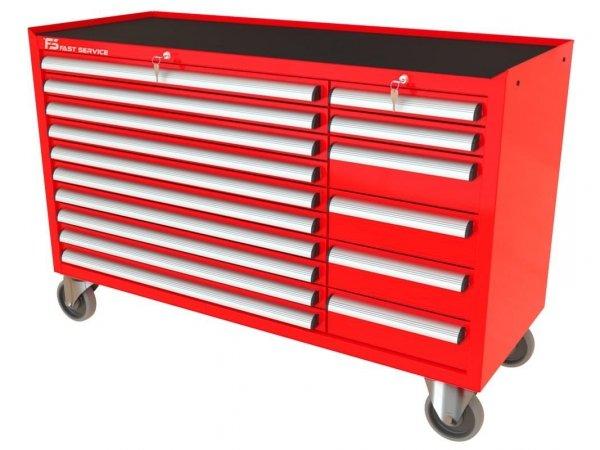 Wózek narzędziowy MEGA z 16 szufladami PM-210-14