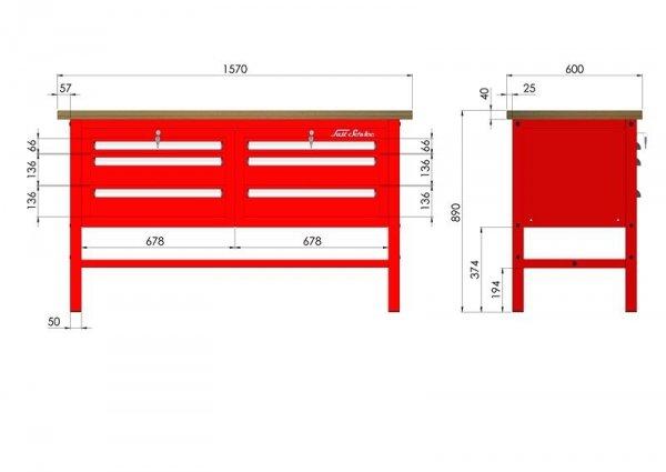P-3-03-01 Stół warsztatowy