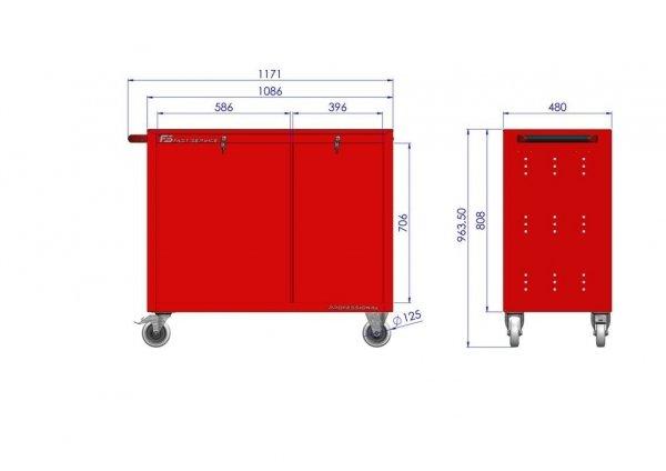 Wózek narzędziowy TRUCK z 20 szufladami PT-210-10