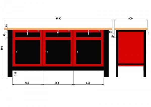 Stół warsztatowy N-3-25-01