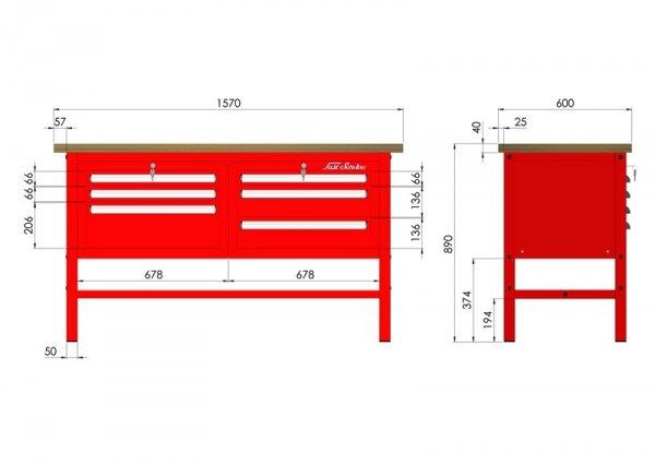P-3-031-01 Stół warsztatowy