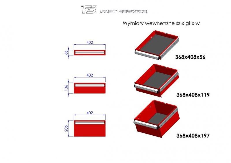 Wózek narzędziowy MEGA z 11 szufladami PM-213-23