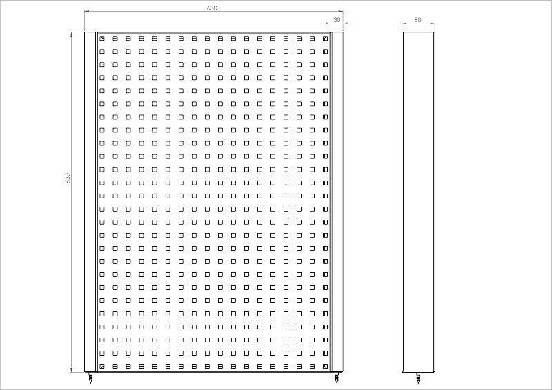 N-4-05-04 Tablica na narzędzia 830mm x 630mm x 80mm