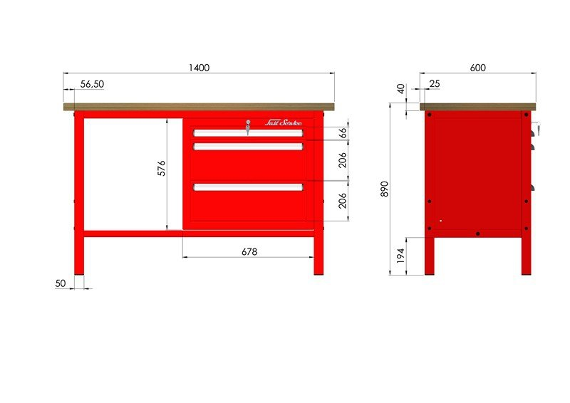 P-3-055-01 Stół warsztatowy