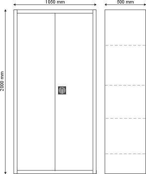 Szafa kartotekowa dwudrzwiowa S-3-01-00