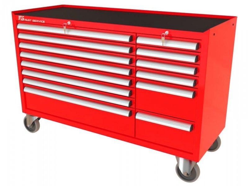 Wózek narzędziowy MEGA z 14 szufladami PM-216-17
