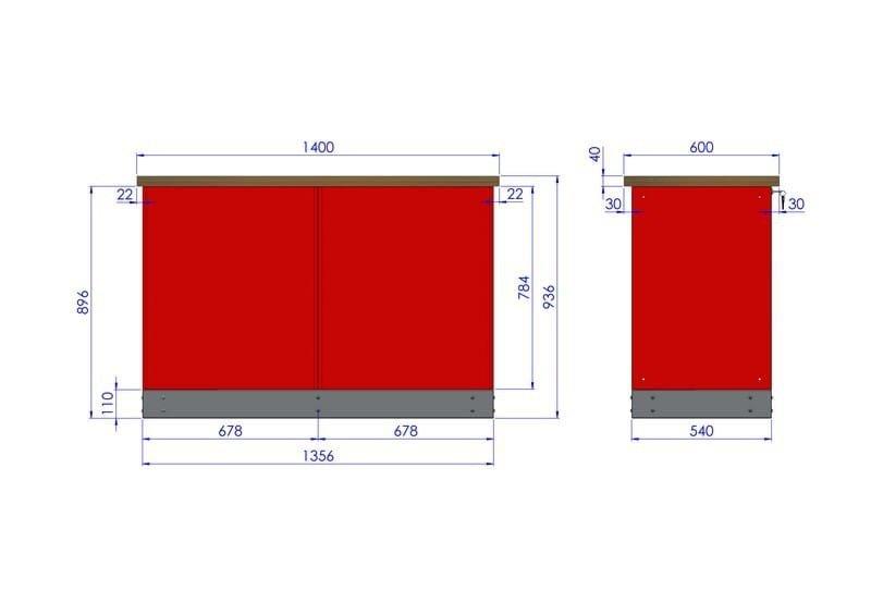 Stół warsztatowy – TK-30-40-01