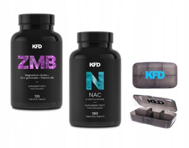 KFD Zestaw ZMB (magnez i cynk) + NAC + Gratis