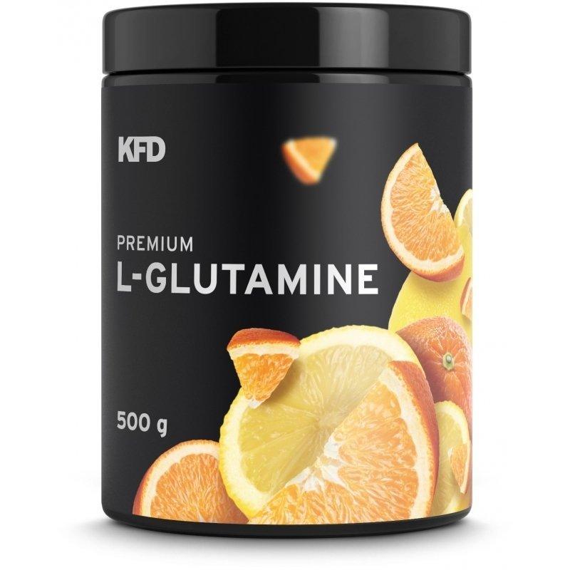 KFD Premium L- Glutamine 500g smak pomarańczowo-cytrynowy