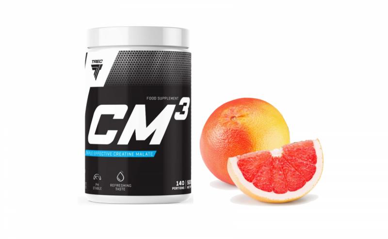 Kreatyna Trec CM3 powder 500g smak grejpfrut