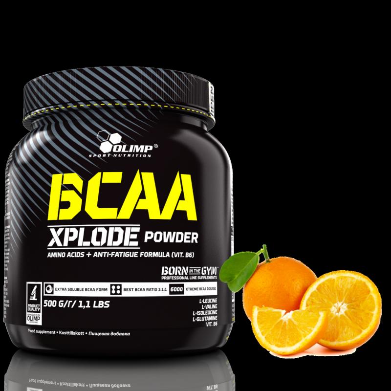 Olimp BCAA Xplode Powder 500g Aminokwasy smak pomarańcza