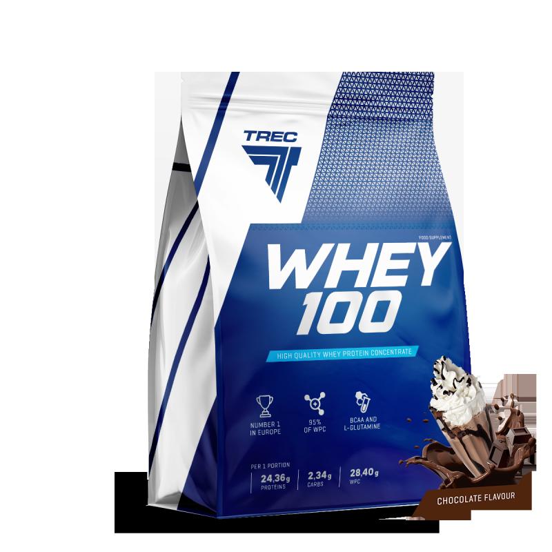 Trec Whey 100 2275g białko chocolate