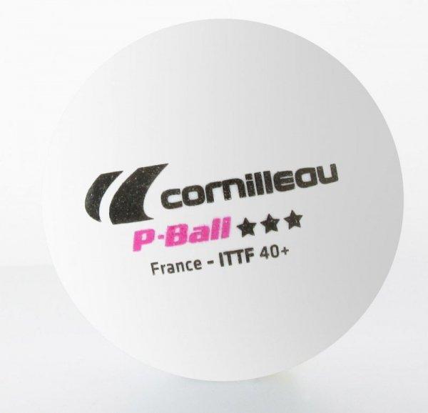 PIŁKI P-BALL ITTF białe 3 szt.