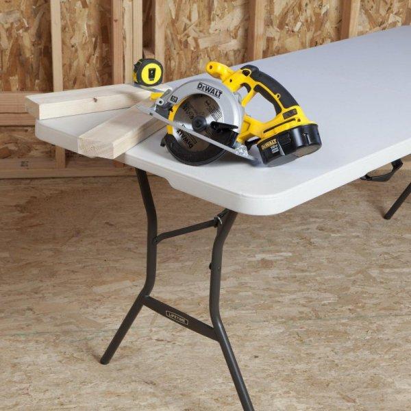 Półkomercyjny stół składany 183cm (biały granit) 80524